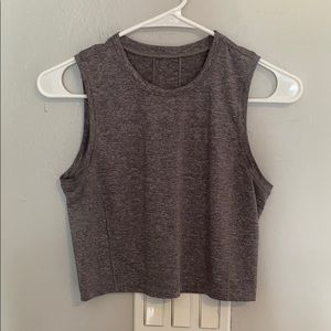 lululemon crop tank size 6 grey